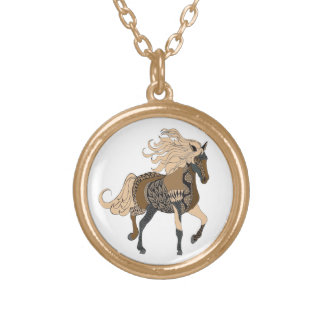 Horse Gold Plated Necklace