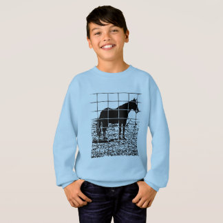 Horse graphic design sweatshirt
