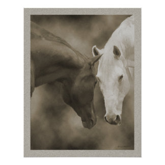 Horse Greetings Poster