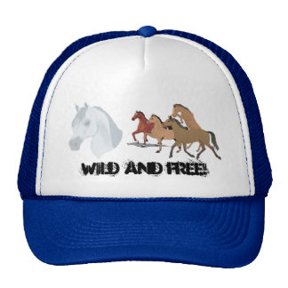 horse group, Wild and FREE! Hats