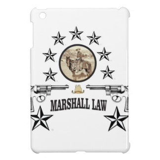 horse guns and marshal law iPad mini case