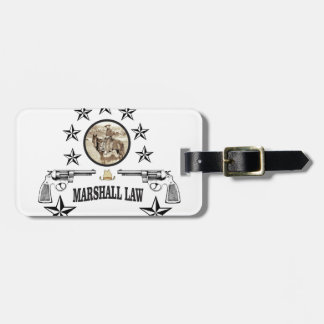 horse guns and marshal law luggage tag