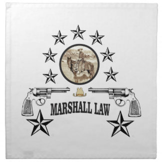 horse guns and marshal law napkin