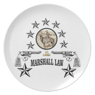 horse guns and marshal law plate