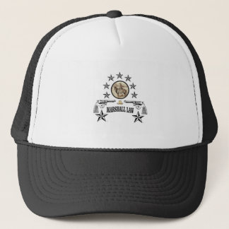 horse guns and marshal law trucker hat
