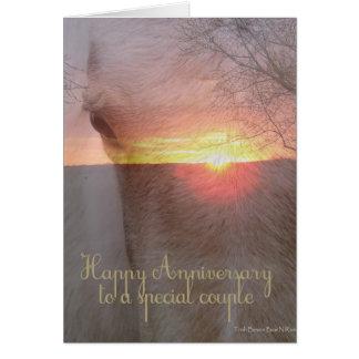 Horse Happy Anniversary Card