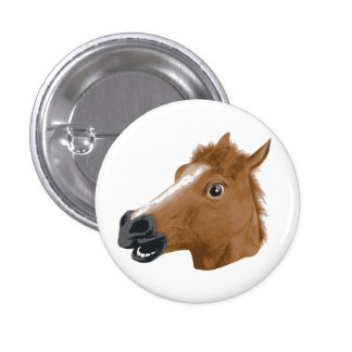 Horse Head Creepy Mask 3 Cm Round Badge