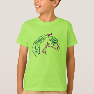 Horse head, multi colored, Youth t-shirt