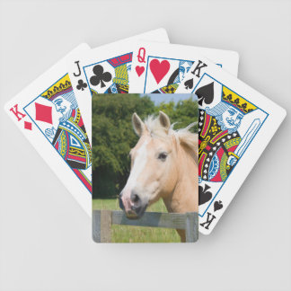 Horse head palomino beautiful playing cards