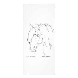 Horse Head Rack Card