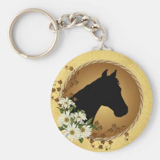 Horse Head Silhouette Key Ring