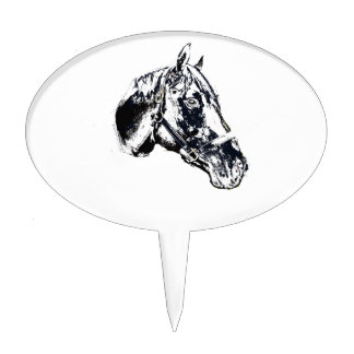horse head stamp style cake pick