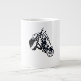horse head stamp style jumbo mug