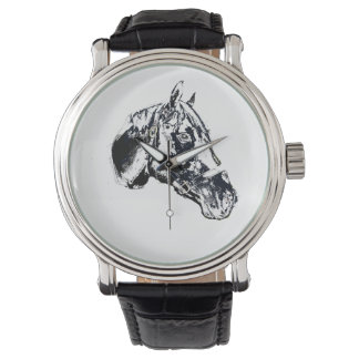 horse head stamp style wrist watches