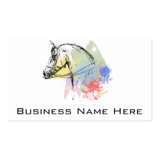Horse Head Watercolors Business Cards