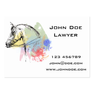Horse Head Watercolors Business Card Templates