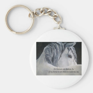 Horse Heaven Basic Round Button Key Ring