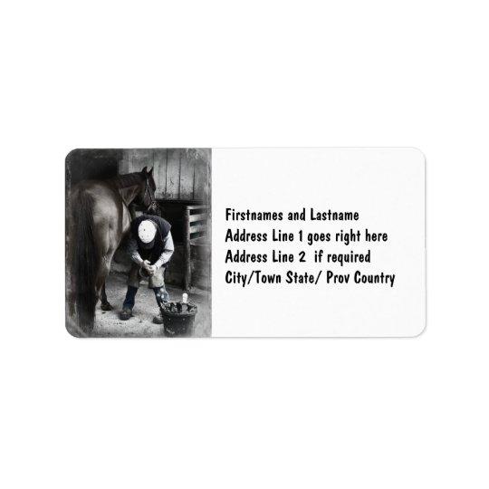 Horse Hoof Trim & Farrier Services Address Label
