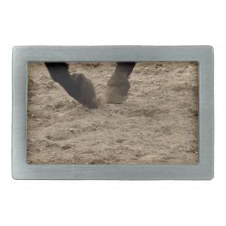Horse hooves belt buckle