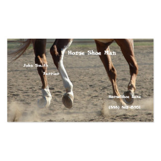 Horse Hooves in Motion Pack Of Standard Business Cards