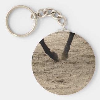 Horse hooves key ring