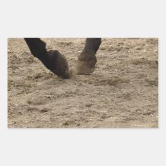 Horse hooves rectangular sticker