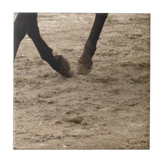 Horse hooves tile
