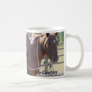 Horse horse horse, Gay Cowboy Coffee Mug