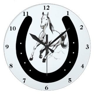 Horse & Horseshoe Wall Clock