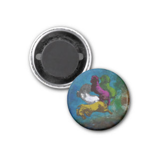 Horse in Colors ~ Buttons 3 Cm Round Magnet