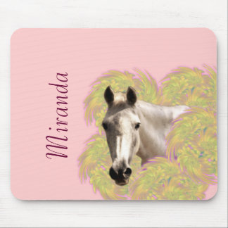 Horse in Flowers Mouse Pad