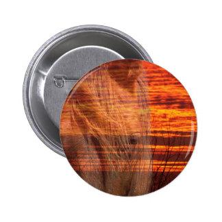 Horse in Orange Sky Pin