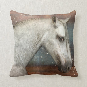 Horse In Starlight Cushion