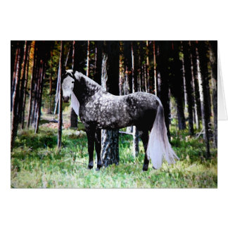 """Horse In The Forest"" Greeting Card"