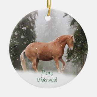 Horse in the Snow Ornament