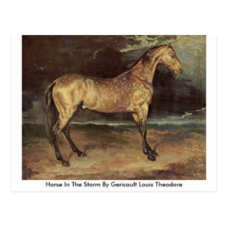 Horse In The Storm By Gericault Louis Theodore Postcard