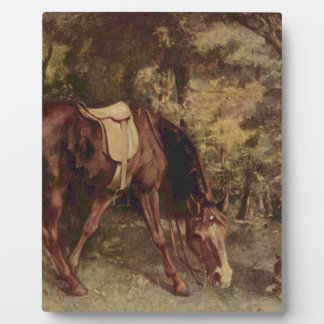 Horse in the Woods by Gustave Courbet Photo Plaques