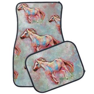 Horse in watercolor car mat