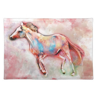Horse in watercolor placemat