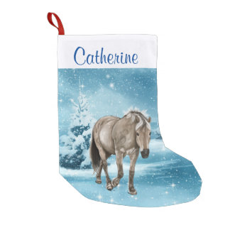 Horse In Winter Scene Custom Stocking