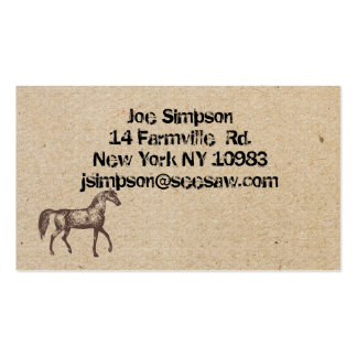 horse ink stamped business cards