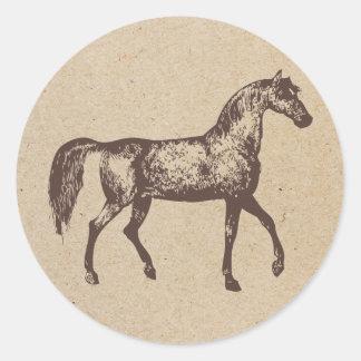 horse ink stamped sticker