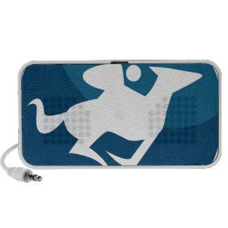 Horse Jockey Race Blue Icon Button Travel Speaker