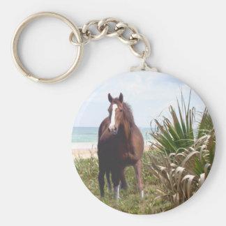 Horse Keychain Beach