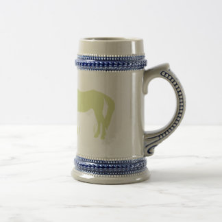 Horse Kisses (Green) Beer Stein