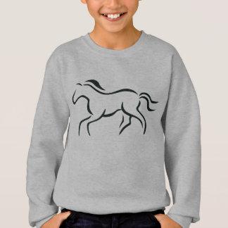 Horse line drawing sweatshirt
