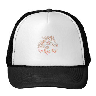 HORSE LIVE LOVE RIDE HATS
