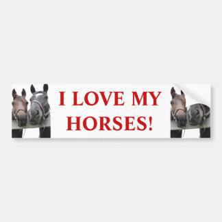 Horse-Love Bumper Sticker