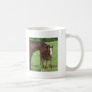 Horse Love, Joy,Peace Coffee Mug