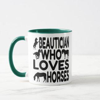 Horse Lover Beautician Mug